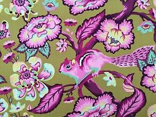 By 1/2 Yard ~ Free Spirit Tula Pink Fabric Chipper ~ Chipmunk Raspberry ~ purple