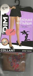 >>> TATOUAGE collant DIM T 3/4 beige effet tatoo couleur Madame so fashion <<<