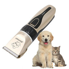Pet Cat Dog Hair Trimmer Electrical Clipper Shaver Set Haircut Machine UK Plug