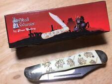 """Frost Steel Warrior Maple Leaf Midlock Copperhead 3 5/8"""" Pocketknife FSW165WSBML"""