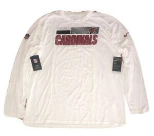 Nike Arizona Cardinals NFL Team On Field Dri-Fit Long Sleeve Shirt 4XL White $40