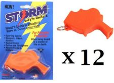Storm Whistle Orange 12 pack  Loudest Whistle in World totally waterproof