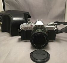Vintage Cannon AV1 35mm Camera WITH FD 50mm 1.4 Lens And Case, Works! GREAT!!!