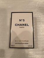 CHANEL N°5 Eau De Parfum Spray 3.4oz/100 ml  New in Sealed Box