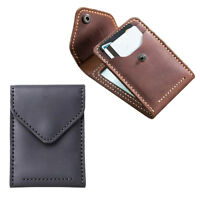 1 Set Billfold Genuine Leather Card Purse Making Kit Brown/Black for Adults