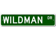 WILDMAN Street Sign - Personalized Last Name Sign