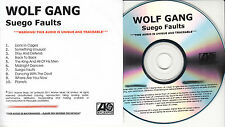 WOLF GANG Suego Faults UK 10-tk numbered/watermarked promo test CD