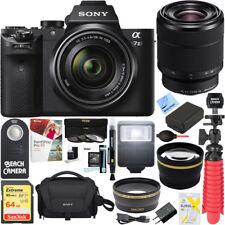 Sony Alpha 7II Mirrorless Camera 28-70mm F3.5-5.6 OSS Lens + 64GB Battery Bundle