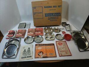 Vintage 70s Coleco Kenner Junior Chef Baking Mix Set Easy Bake Oven Cookbook