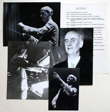 WILHELM FURTWANGLER Press dossier BORIS LIPNITZKI photograph ROGER-VIOLET photo
