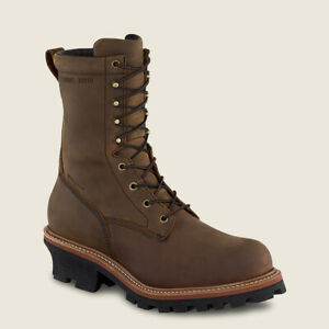 NEW LOGGERMAX MEN'S 9-INCH WATERPROOF, SAFETY TOE LOGGER BOOT STYLE 2217 SAVINGS
