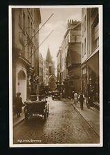 Channel Islands GUERNSEY High St nice street scene c1920s? RP PPC