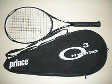 PRINCE O3 WHITE MP 100 TENNIS RACQUET 4 1/4 (NEW STRINGS)