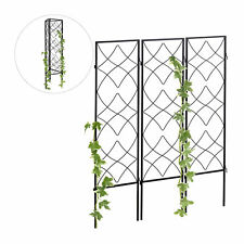 Rankgitter 3 Stück, Blumengitter Kletterpflanzen, Rosengitter Metall, Rankhilfe