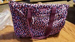 Vera Bradley **BERRY BURST** Lighten Up Expandable Tote Bag NWT. Retired HTF.