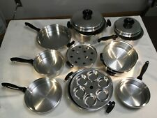 TOWNECRAFT CHEF'S WARE Waterless Cookware T304 Stainless 15 Pieces EUC