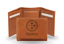 Pittsburgh Steelers TRIFOLD STANDARD Authentic Embossed Leather Wallet NWT