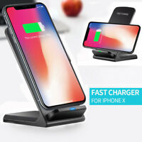 Wireless QI Fast Charger Charging Pad Stand Dock Holder For iPhone XS /XS MAX/XR