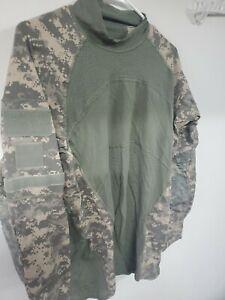 Army Combat Shirt  acu digital xl OCP Flame Resistant acs crew neck tags