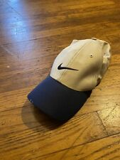 Vintage Nike Golf Hat White With Black Brim Fitted Size 7 1/8 Small