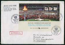 KOREA FDC 1988 COVER OLYMPICS SEOUL SOUVENIR SHEET kkm68199