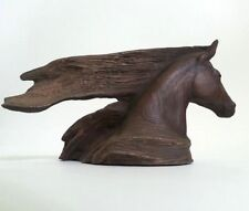 """VINTAGE SIGNED CAIN 1985 """"WILD HORSE"""" SCULPTURE LIMITED EDITION 9.5"""" LONG"""