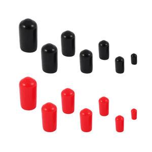 Endkappen Øi 2mm bis 17,8mm 10 -20 -50 Stück Schwarz Rot Schutzkappen PVC Kappen