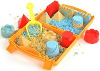 KRAFTZLAB Molding Play Sand for Kids - Slow Motion Sand Kit with Sand Molds
