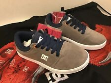 DC Crisis Shoes Youth Size 1 Gray/Navy Lather- Sample no defects New