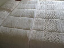 Concierge Collection Cream Faux Fur Full/Queen Comforter Set - New