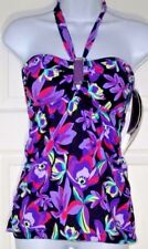 Island Escape Real Solutions Shirred Bandeaukini - Size 8 - NEW w/Tags