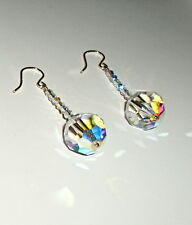 Long AB Clear Crystal Earrings