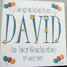 HANDMADE PERSONALISED GRADUATION CARD CONGRATULATIONS MALE FEMALE