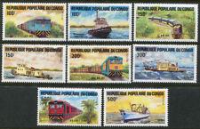 Congo 703-710, MNH, Locomotives Trains Ships. x2656