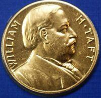 William H. Taft Presidential Medal, 24kt Gold Electroplated