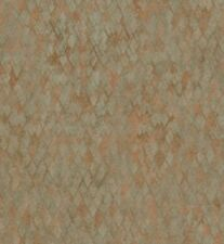 Wallpaper Designer Small Mini Copper Verdigris Green Harlequin