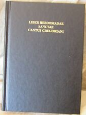 Liber Hebdomadae Sanctae Cantus Gregoriani, Holy Week Gregorian Chant Book