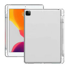 """For iPad Pro 11"""" 12.9"""" 2020 & 2018 Shockproof Clear TPU Cover Case Pencil Holder"""