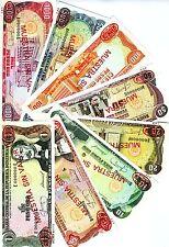 SPECIMEN SET, Dominican 1;5;10;20;50;100;500;1000 Pesos Oro 1987 UNC