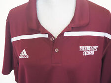Mens ADIDAS Maroon MISSISSIPPI STATE Climalite Polo - XL