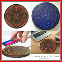 Qi Wireless Fast Charger Magic Optical Array Circle Charging for Iphone Android