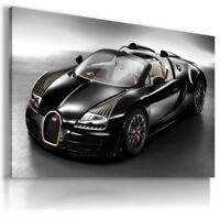 BUGATTI VEYRON BLACK Super Sport Cars Wall Canvas Picture ART AU570 MATAGA