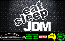 Eat Sleep JDM Car Window Sticker Decal