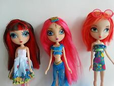 3 La Dee Da Fashion Dolls Lot, no shoes: Cyanne, City Dee & Runway Vacay EUC