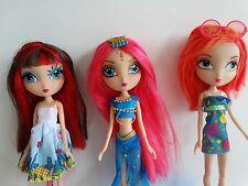 3 La Dee Da Fashion Dolls Lot, no shoes: Cyanne, City Dee & Runway Vacay EUC