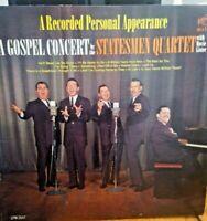 Statesmen Quartet W/ Hovie Lister ~ A Gospel Concert LP Vinyl VG+ 1963