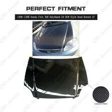 Carbon Fiber OEM Style Hood Bonnet Kit For 96-98 Honda Civic 3DR Hatchback EK