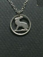 Ireland  Cut Coin Pendant Irish Rabbit Hare