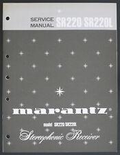 MARANTZ Model SR220 SR220L Original Receiver Service-Manual/Diagram/Parts o177