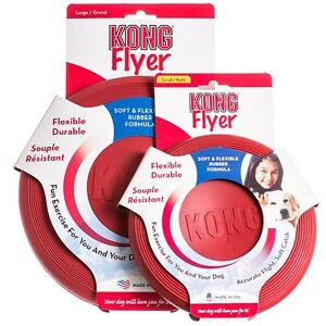 Kong Dog Toy ... Kongs Flexible Durable Rubber Disc Flying Frisbee Flyer Large